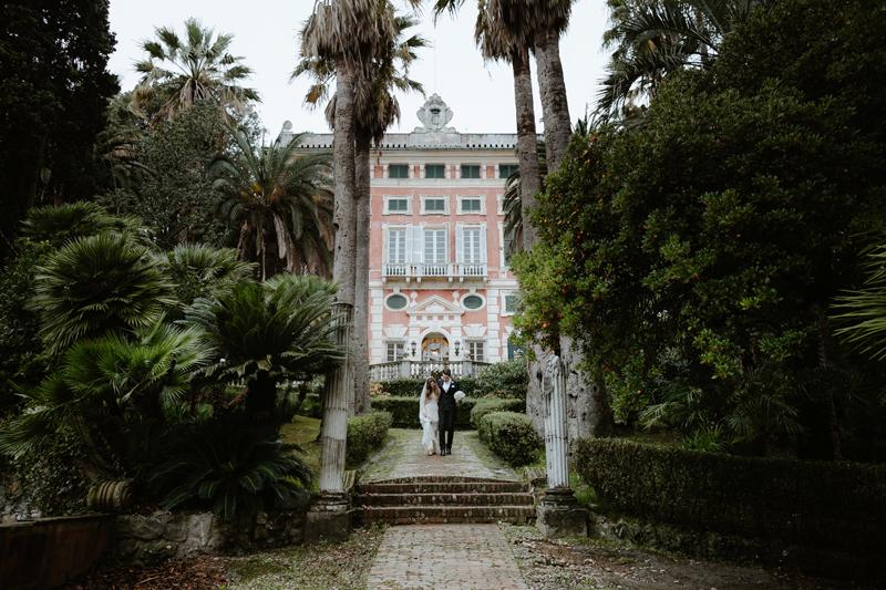 Wedding in Villa Durazzo - Il Velo e il Cilindro | Matrimonio a Portofino